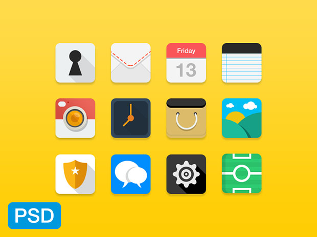 12-Flat-Icons-PSD