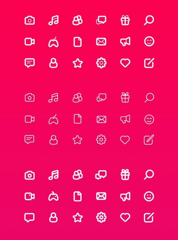 18-free-Stroke-icons