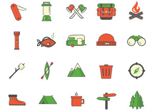 20-Camping-Outdoor-Icons
