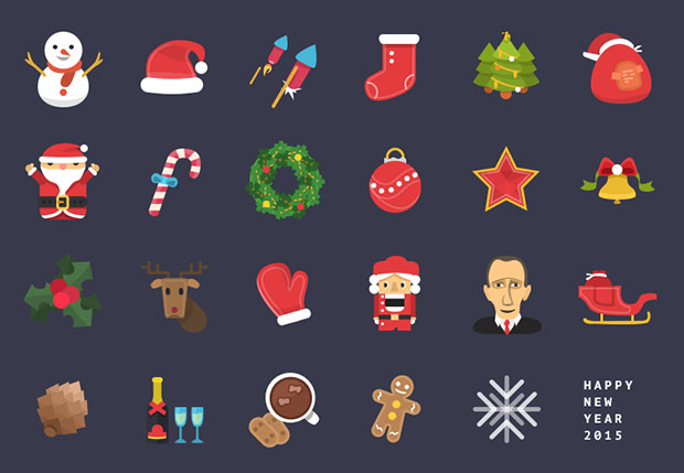 24-Christmas-&-New-Year-Colorful-Icons