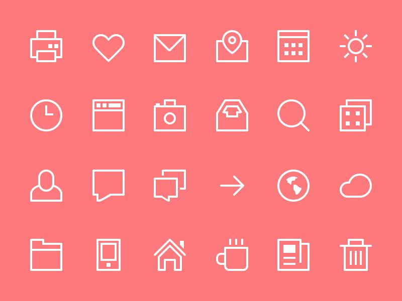 24-Thin-Stroke-Icons