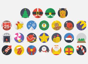 25-Free-Christmas-Flat-Icons