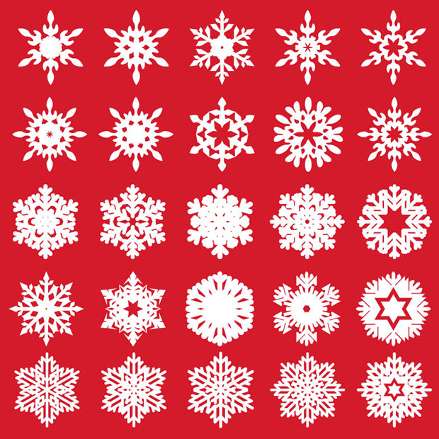 25-Free-Vector-Snowflakes
