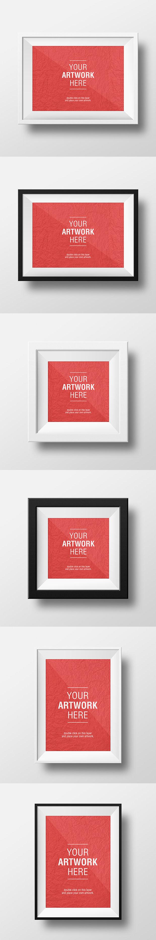 3-Artwork-Frame-PSD-MockUps
