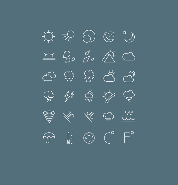 30-Free-vector-weather-icons