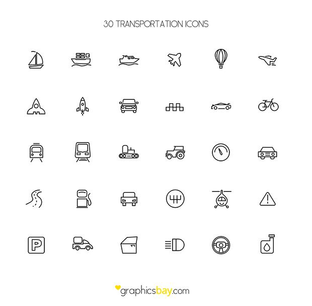 30-Freebie-Transport-Icons