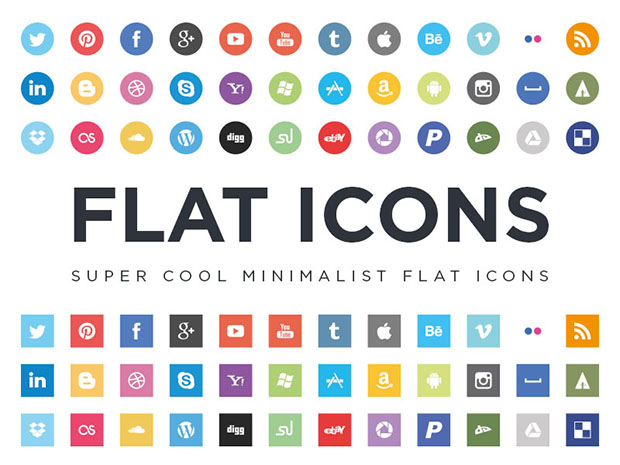 36-Flat-Social-Icons-EPS