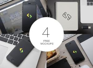 4-Free-Apple-Mockups