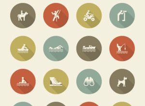 40-Camping-and-Recreation-Icon-Set