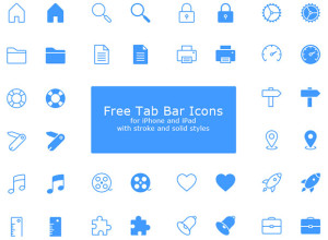 40-Free-Tab-Bar-PSD-Icons