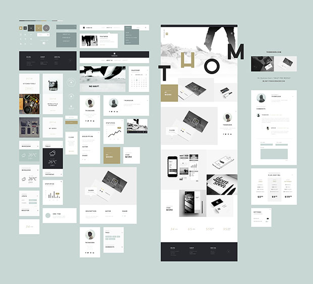 55-Elements-Free-UI-Kits-PSD