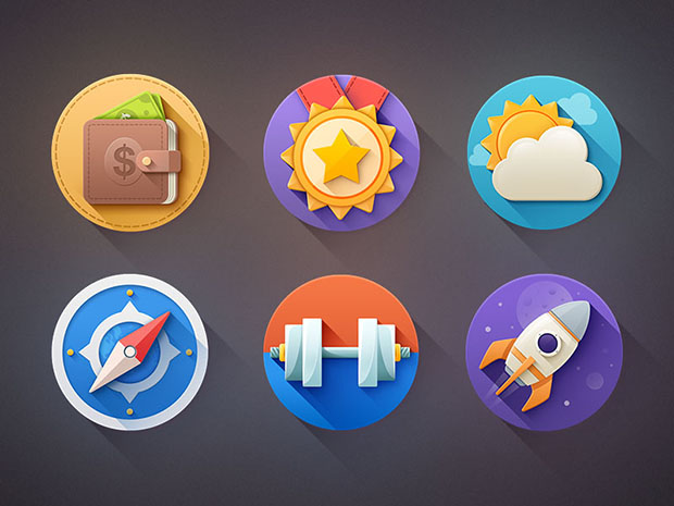 6-Flat-Icons-Shadow-Free-PSD