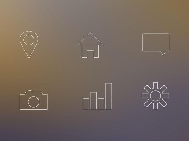 6-Line-Icon-Set