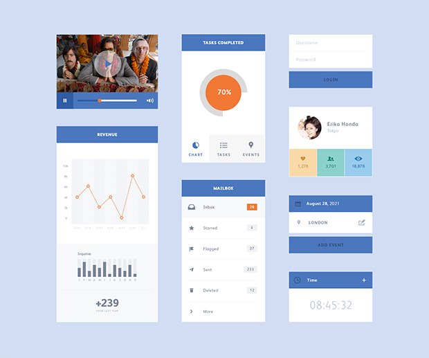 8-Freebie-PSD-Flat-UI-Kit