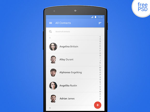 Android-Contacts-Material-Design