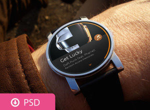 Android Wear-Scene-PSD-Template
