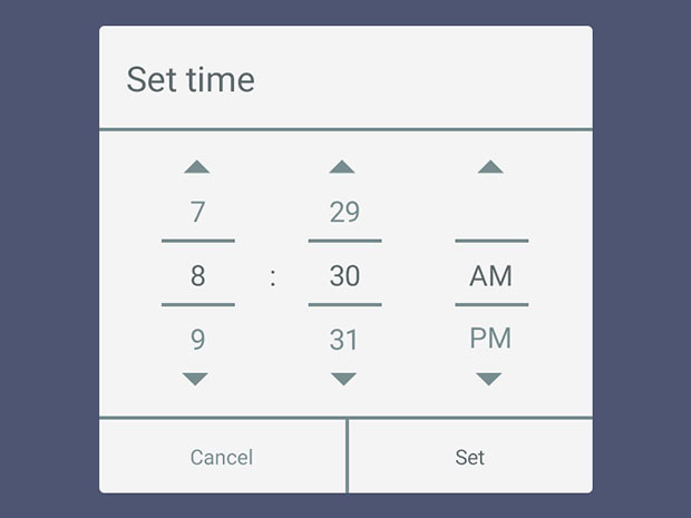 Android-legacy-time-picker-PSD-resource