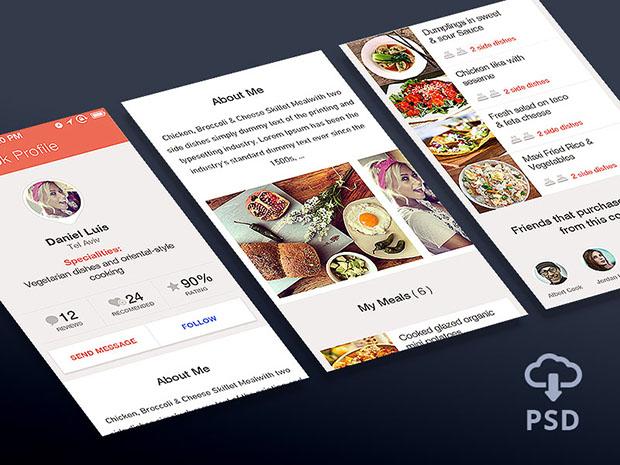 App-User-Profile-Free-Psd