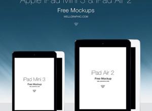 Apple-iPad-Mini-3-and-iPad-Air-2-MOCKUP-PSD