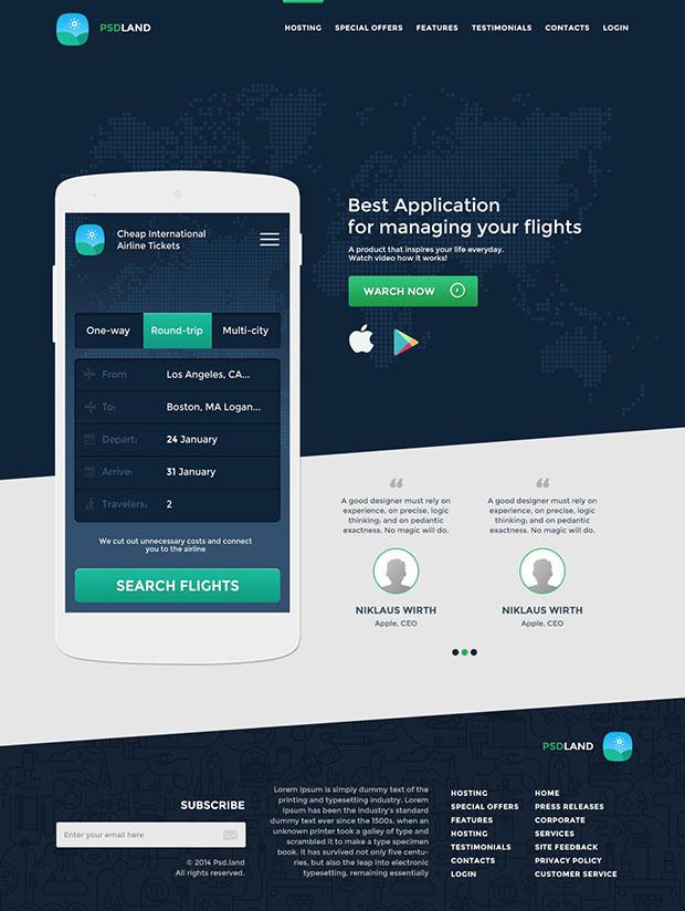 Application-Landing-Page-UI