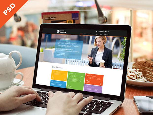 Beautiful-PSD-for-a-tech-website