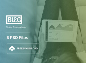 Blog-Apps-Free-8-PSD-Download