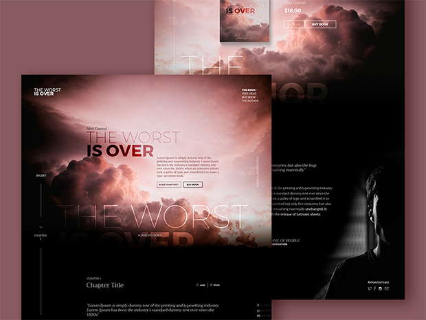 books-promotion-landing-page-ui-free-psd