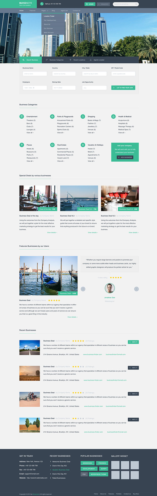 Buissnote-Free-PSD-Template
