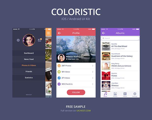 COLORISTIC-iOS-Android-UI-Kit