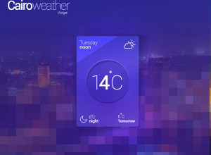 Cairo-Weather-Widget-Free-PSD