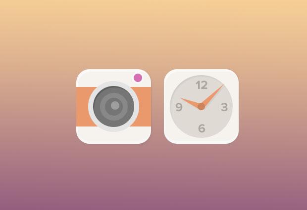 Camera-And-Clock-Icons