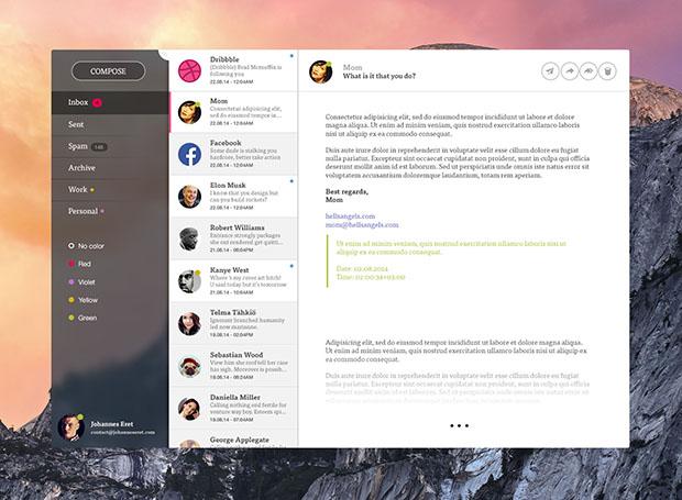 Clean-mailer-App-PSD