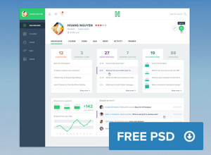 Course-Dashboard-Freebie