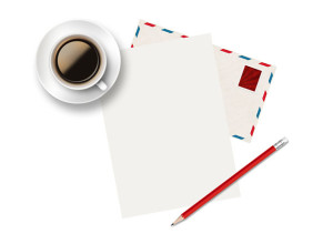 Cup-of-coffee-and-paper