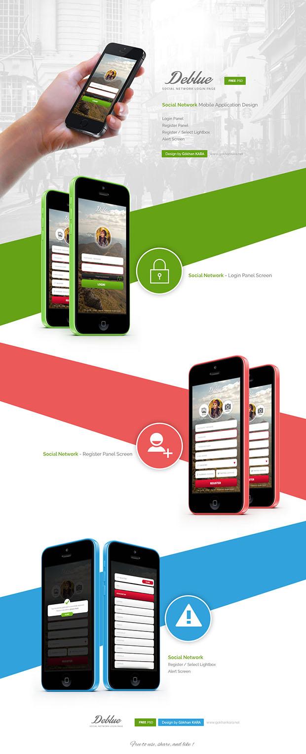 Deblue-Social-Network-Application-Design