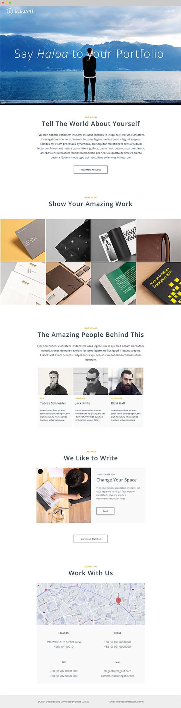 Elegant-Free-HTML-PSD