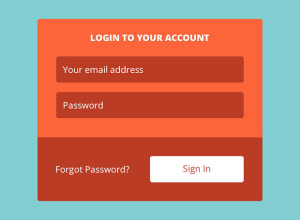 Flat-Button-Login-Form