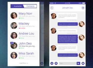 Flat-Chat-App-UI-iOS7-Free-PSD