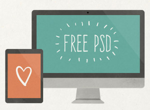 Flat-Scratchy-Screen-PSD-Freebie