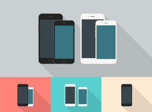 Flat-Style-iPhone-6-Mockups