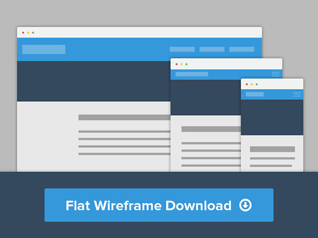 Flat-Wirefame-PDS-download