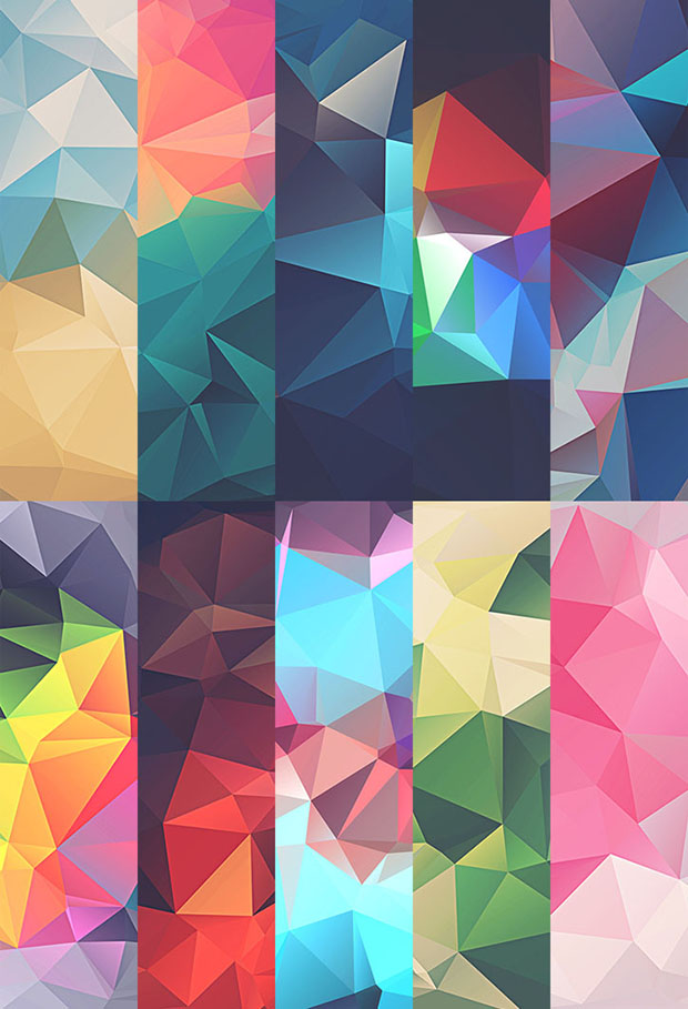 Free-10-low-poly-polygonal-textures
