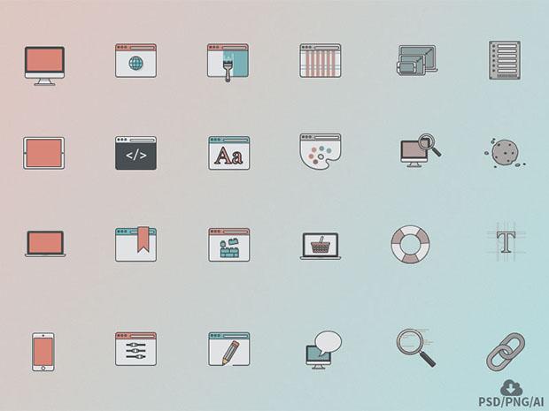 Free-24-Web-Design-Icon-Set