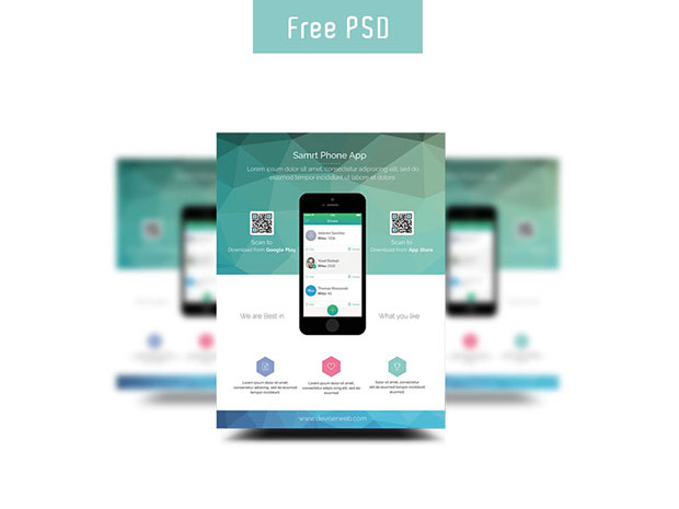 free app promotion flyer templates free download psd dlpsd