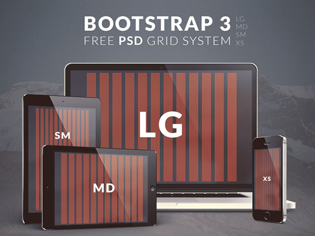 Free-Bootstrap-3-PSD-Grid-System