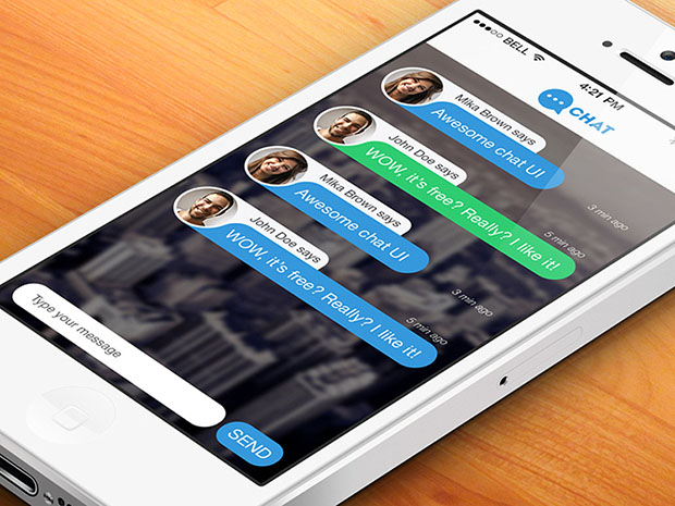 Free-Chat-App-PSD