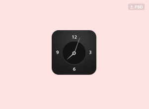 Free-Clock-Icon-Psd