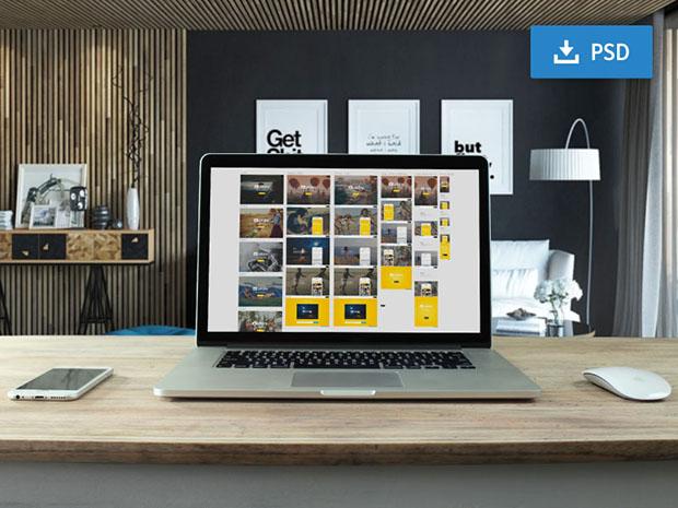 Free-Customizable-macbook-PSD-mockup