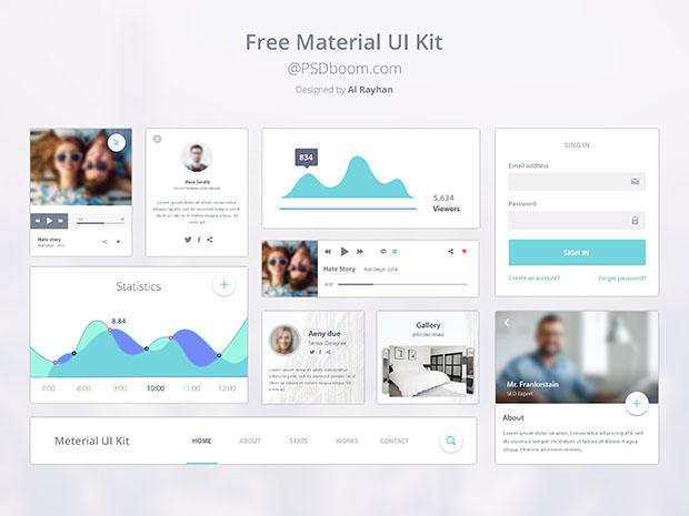 Free-Google-Material-Design-UI-Kit