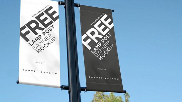 Free-Lamp-Post-Banner-Mockup